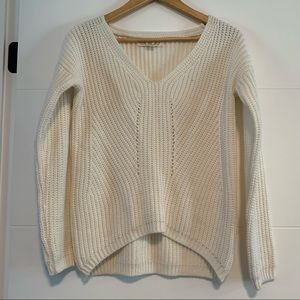 Pink Rose   Cream Knit Sweater